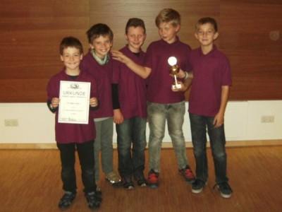 3. Platz: SF Tegernheim von links: Felix Scheiner, Tobias Böhm, Felix Tham, Carl-Gustav Haas, Jakob Kagermeier