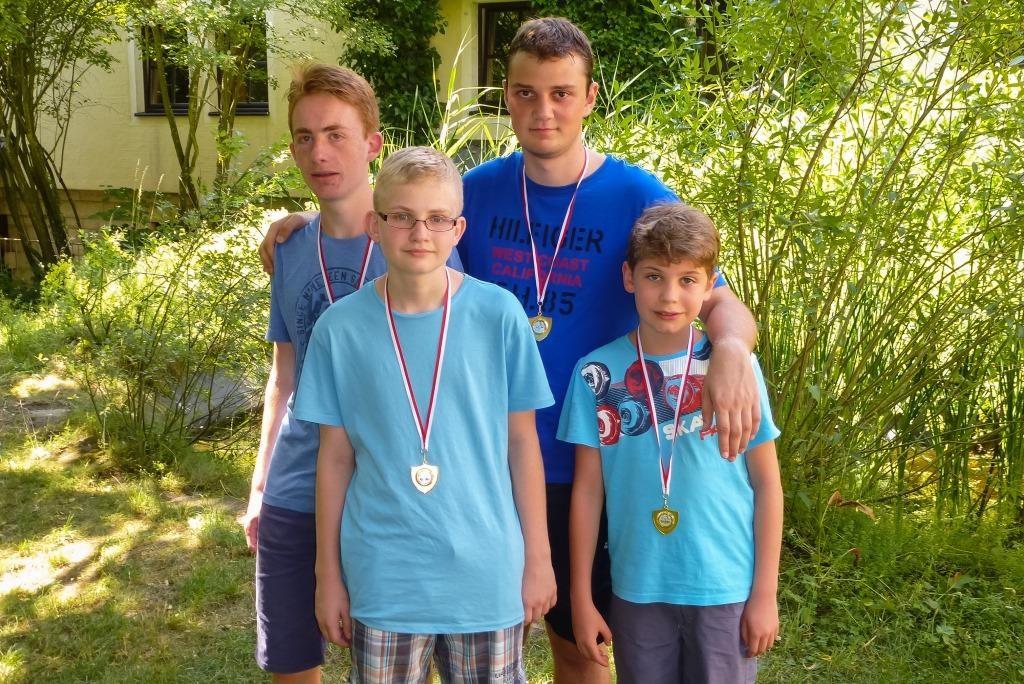 Sieger: Die Mattsetzer von links: Tobias Schindler, Philip Denk, Julian Fritsch ©, Alexander Völker, Leonard Stöckl