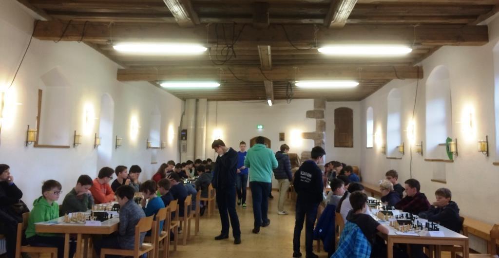 Der Rittersaal - mit extra Licht für Schachspieler ;)